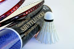 badminton sprzętu Obrazy Stock