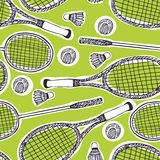 Badminton and tennis background. Badminton and tennis seamless background Stock Photography
