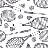 Badminton and tennis Stock Image