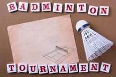 Badminton tournament Royalty Free Stock Images