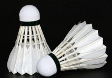 Badminton twee royalty-vrije stock foto