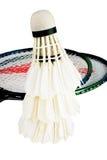 Badminton und Schläger Stockfoto