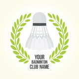Badminton vector club logo Stock Photos