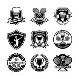 Badminton Vector Icons 1. Here is an awesome set of Badminton Badges that you are sure to find very useful. Hope you really enjoy using them Stock Photography