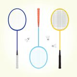 Badminton vector set Royalty Free Stock Image