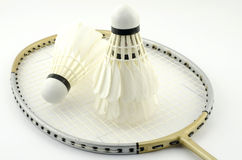 Badminton  on white Royalty Free Stock Photos