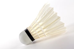 Badminton, white shuttlecock royalty free stock photography