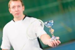 Badminton winner Royalty Free Stock Image