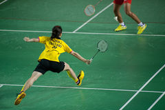 Badminton women's singles competition . Royalty Free Stock Image