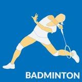 Badminton sport flat illustration stock illustration