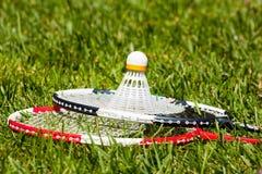 badminton zbliżenia kantów shuttlecock dwa Zdjęcia Stock