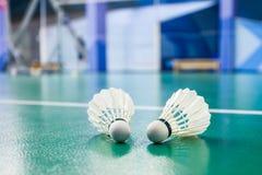 Badmintonballen royalty-vrije stock afbeelding