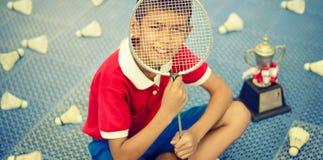 Badmintonbegrepp arkivbild