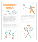 Badmintonbroschürenturnier-Ergebnisvektor vektor abbildung