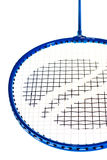 badmintoncloseupracket royaltyfri fotografi