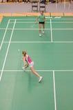 badmintondamtoalettsinglar Fotografering för Bildbyråer