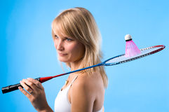 badmintonfågel Royaltyfri Fotografi