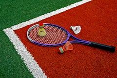Badmintonfederbälle u. Racket-8 Stockfotos