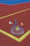 Badmintonfjäderbollar & Racket-4 Royaltyfri Fotografi