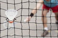 Badmintonfjäderboll Arkivbild