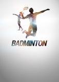 Badmintonhintergrund Lizenzfreie Stockfotos