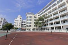 Badmintonhof van middelbare school van de ningde de nationale minderheid Royalty-vrije Stock Foto