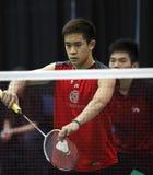 Badmintonkanadaservedoppelventilkegel Stockbilder