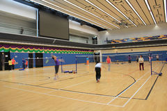 Badmintonkorridor Arkivbild