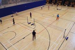 Badmintonkorridor Royaltyfria Bilder