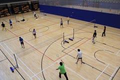 Badmintonkorridor Arkivfoto