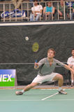 badmintonmansinglar Arkivbild