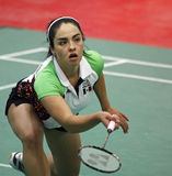 Badmintonmexiko-Frau Stockfotos