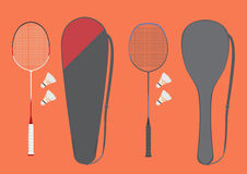 Badmintonracket Royaltyfri Fotografi