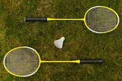 Badmintonracket Arkivbild