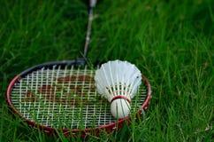 Badmintonracket för lek Arkivfoto