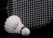 badmintonracketshuttlecock Royaltyfria Bilder