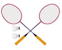 badmintonset vektor illustrationer