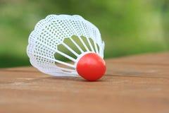 Badmintonshuttle voor het spelen van badminton Royalty-vrije Stock Foto