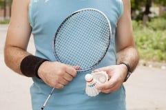 Badmintonspelare Royaltyfri Fotografi