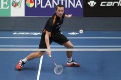 Badmintonspelare Mark Caljouw Royaltyfri Foto