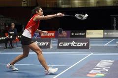 Badmintonspieler Gayle Mahulette Stockfotos