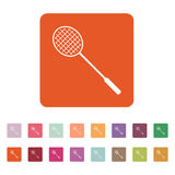 Badmintonsymbolen modigt model symbol för överdängare 3d plant royaltyfri illustrationer