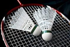 Badmintonutrustning royaltyfri foto