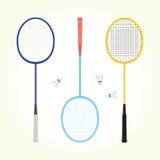 Badmintonvektorsatz Lizenzfreies Stockbild
