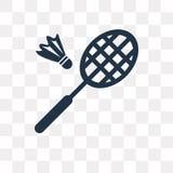 Badmintonvektorsymbol som isoleras på genomskinlig bakgrund, Badmin royaltyfri illustrationer