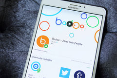 Badoo APP Photographie stock