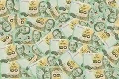 Badpengar för valuta 20 av Thailand Royaltyfria Bilder