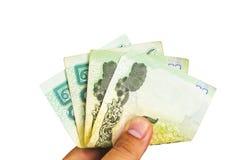 Badpengar för valuta 20 av Thailand Arkivbilder