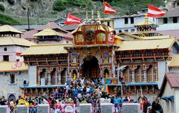 The Badrinath Temple, India. Badrinath or Badrinarayan Temple is a Hindu temple dedicated to Vishnu which is situated in the town of Badrinath in Uttarakhand Royalty Free Stock Photo