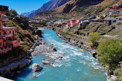 Badrinath town Royalty Free Stock Images